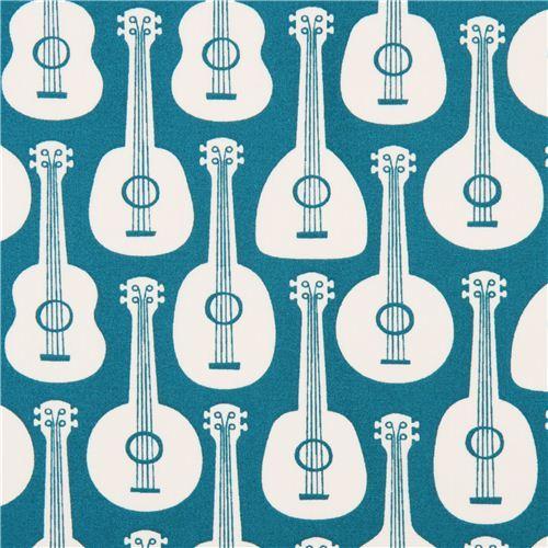 teal Bossa Ukes guitar ukulele organic fabric by birch