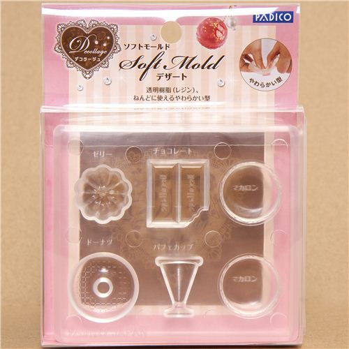 small soft mold for clay desserts from Japan
