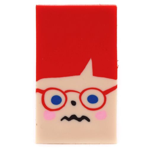 Ginger redhead face shape change eraser from Japan