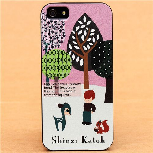 pink forest boy deer iPhone 5 hard cover case from Japan