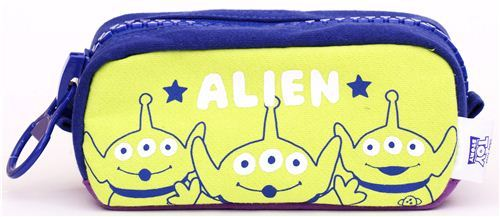 blue Toy Story Alien pencil case from Japan