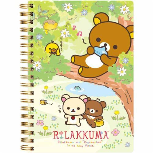 cute Rilakkuma friends flower ring binder notebook kawaii