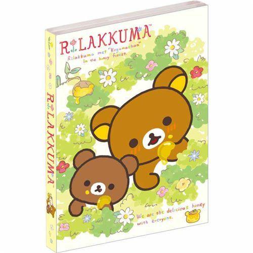 cute Rilakkuma friends honey flower mini memo pad book by San-X