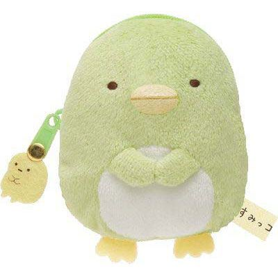 kawaii green Sumikkogurashi penguin plush pouch wallet