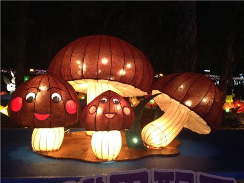 mushroom lanterns