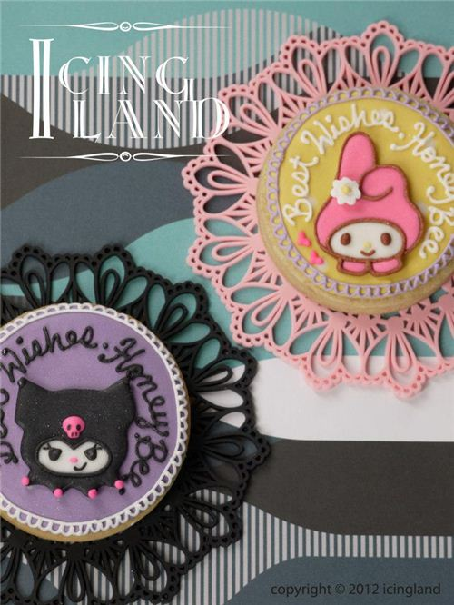 Kuromi and My Melody cookies