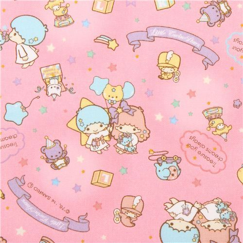 pink Little Twin Stars star ballon toys Sanrio oxford fabric from Japan
