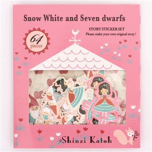 Snow White fairy tale sticker sack Shinzi Katoh