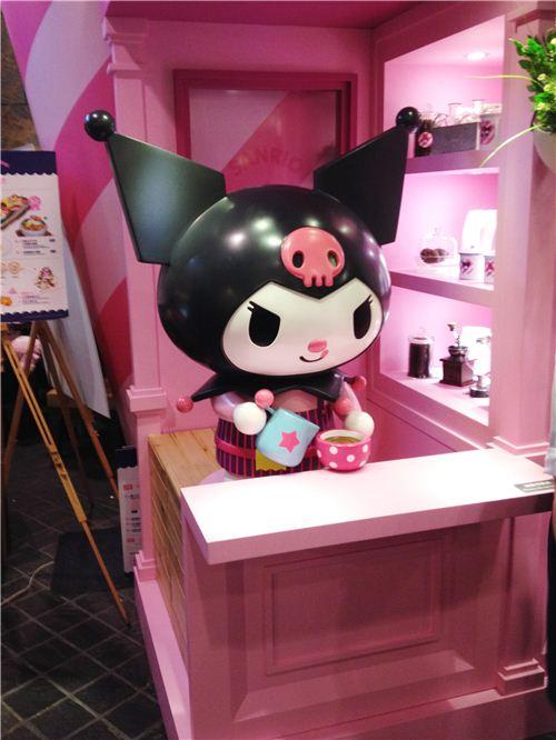 Kuromi preparing coffee