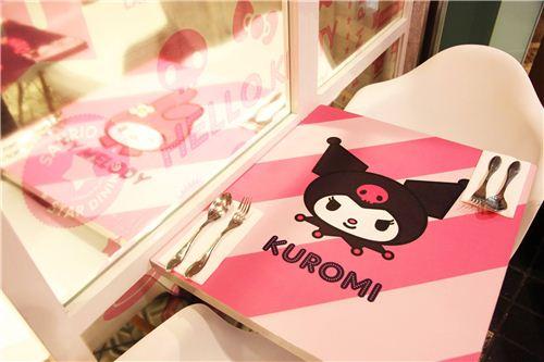 kawaii Kuromi table deisgn, photo by Langham Place