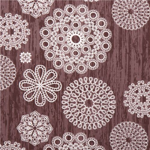 Knots & Loops Bark lace ornament fabric by Michael Miller