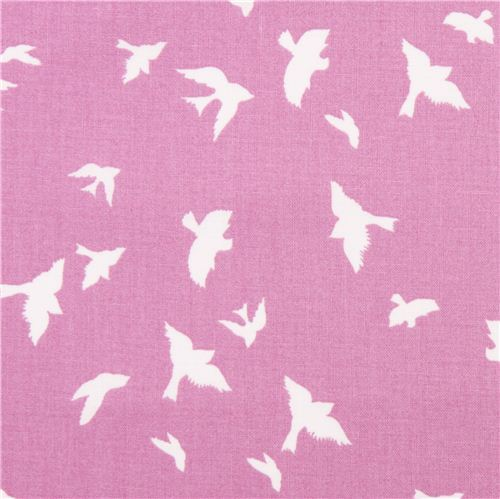 orchid bird martin fabric by Michael Miller flight USA