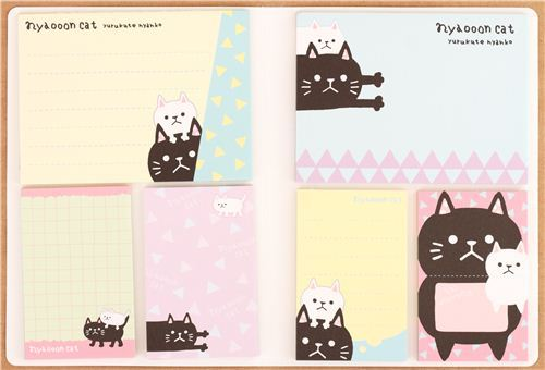 kawaii cat animals mini memo pad book by Mind Wave