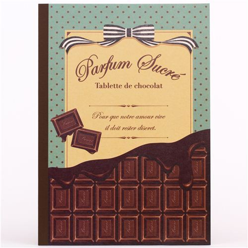 kawaii chocolate dot ribbon notebook exercise book