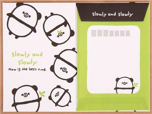 kawaii panda bear animal Letter Set by Q-Lia