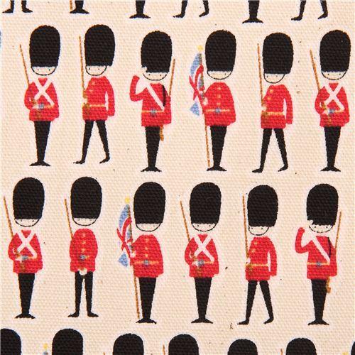 natural-colored travel London guard oxford fabric Kokka