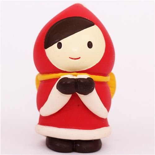 Little Red Riding Hood with mittens Christmas figurine Japan