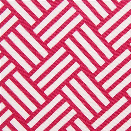 pink tatami stripes cotton sateen fabric Michael Miller