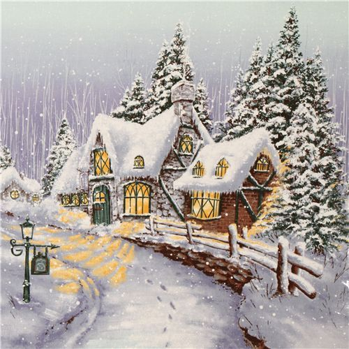 Michael Miller Christmas fabric Snowy Chateau
