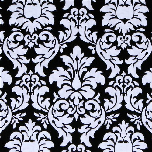 Michael Miller laminate oilcloth fabric Dandy Damask