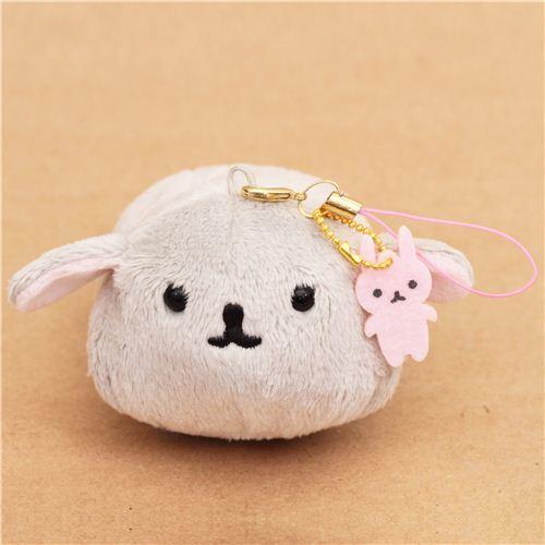 funny Mofutans small grey mochi bunny plush charm