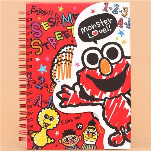 red Elmo Sesame Street ring binder notebook from Japan