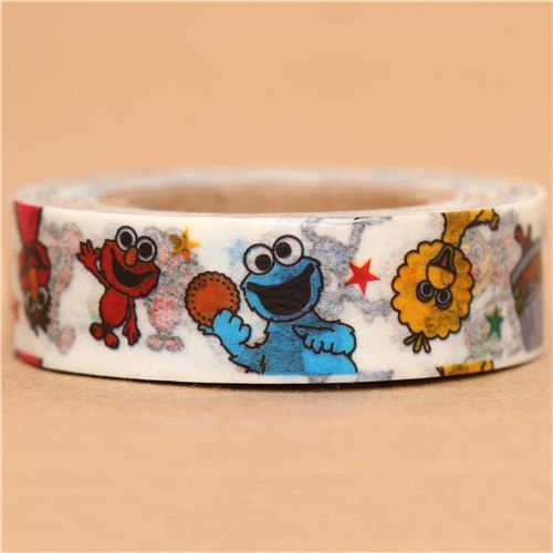 white Sesame Street Washi Masking Tape deco tape