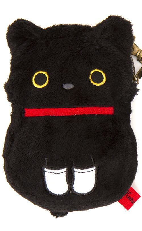 Kutusita Nyanko cat plush pouch wallet