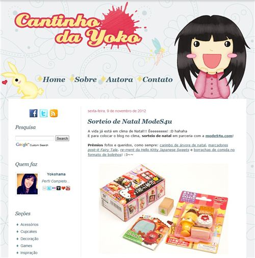 Win our kawaii prize package on the Spanisch Blog Cantinho da Yoko