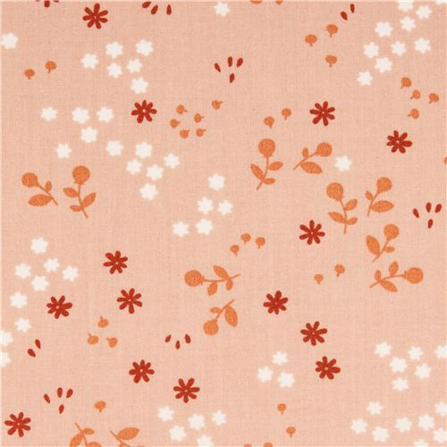 Tonal Floral Shell mini flower birch organic fabric from the USA