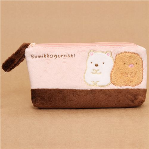 fluffy Sumikkogurashi polar bear pencil case San-X