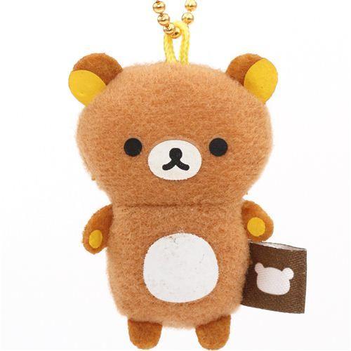 cute Rilakkuma bear plush charm