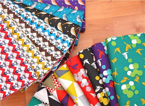 We now have many beautiful echino sateen fabrics