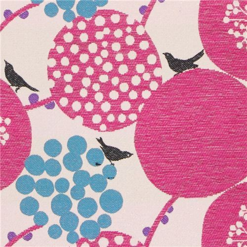 big berry Jacquard echino fabric hot pink from Japan
