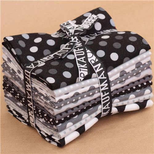 Fat Quarter fabric bundle dots Shadow Play Robert Kaufman