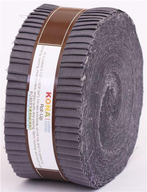 Roll-up fabric bundle roll Coal grey Robert Kaufman