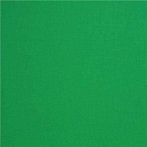 solid dark green fabric Robert Kaufman USA Clover