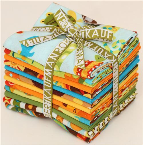 Fat Quarter fabric bundle animals bermuda by Robert Kaufman