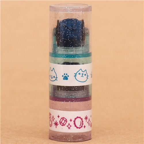 cats diamonds roller stamp pen rolling stamp