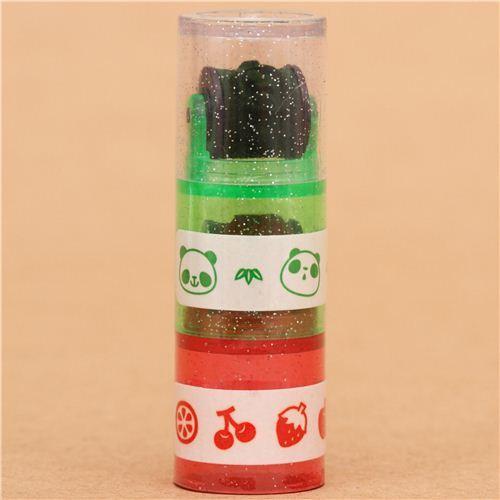 panda fruit roller stamp pen rolling stamp