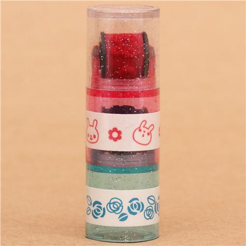 rabbit rose flower roller stamp pen rolling stamp