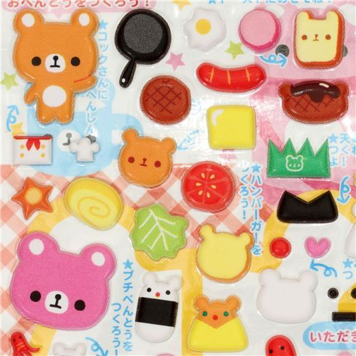 Japanese sticker bear bunny food kawaii