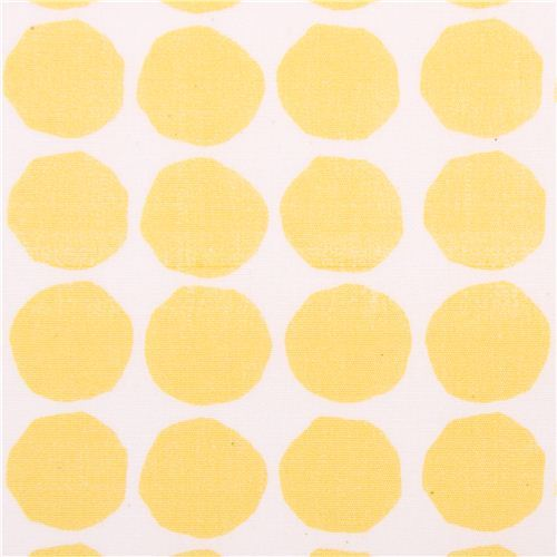 white monaluna yellow dots organic fabric dot