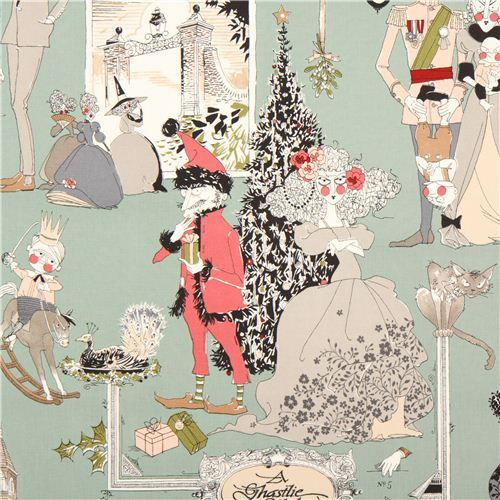 green witch family Christmas fabric Alexander Henry USA