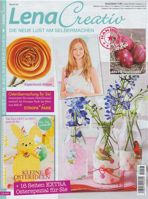 We are featured in the Easter edition of German magazine Lena Creativ