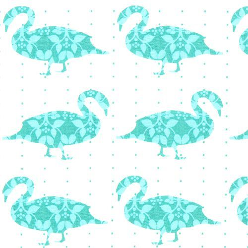 dotted fabric swan duckRobert Kaufman kawaii