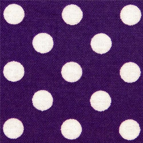 purple polka dot laminate fabric by Cosmo from Japan