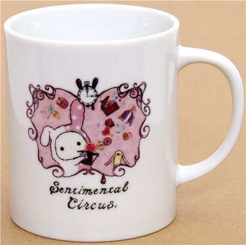Sentimental Circus cup with towel rabbit San-X
