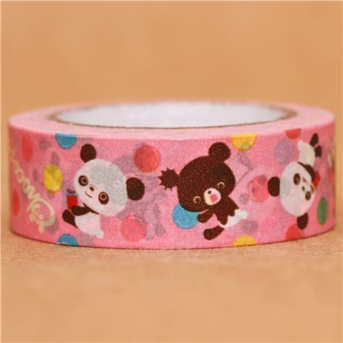 pink Chocopa chocolate panda bear Washi Masking Tape