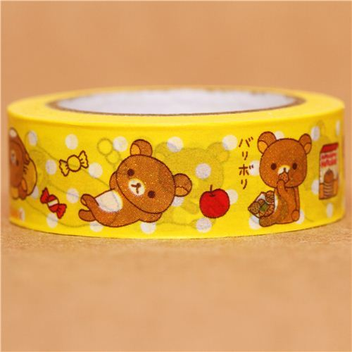 yellow Rilakkuma bear pancakes Washi Masking Tape deco tape
